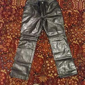 Leather Size 12 Gap Bootcut Pants